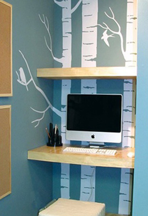 cr er un bureau atelier dans un petit espace id e cr ativeid e cr ative. Black Bedroom Furniture Sets. Home Design Ideas