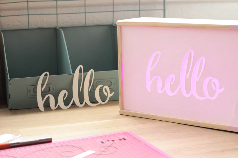decoupage-papier-hello-light-box-diy-test